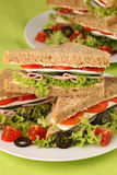 Healthy sandwiches royalty free stock photography