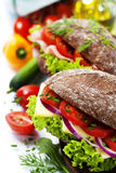 Healthy sandwiches stock image