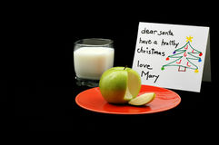 Healthy Santa Snack. Healthy alternative to cookies for Santa Royalty Free Stock Image