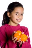 Healthy satsuma oranges Stock Images