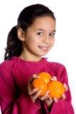 Healthy satsuma oranges Stock Images