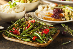 Healthy Sauteed Green Beans Stock Photography