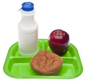 Healthy School Lunch Royalty Free Stock Images
