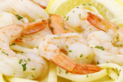 Healthy Seafood and Pasta Royalty Free Stock Images