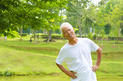Healthy senior Royalty Free Stock Images