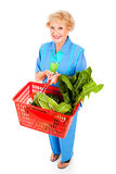 Healthy Senior Lady Shopper Stock Photo