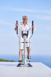 Healthy senior man working out Royalty Free Stock Image