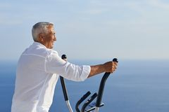 Healthy senior man working out Stock Photography