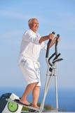 Healthy senior man working out Stock Photos