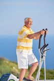 Healthy senior man working out Stock Images