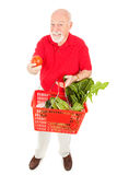 Healthy Senior Shopper Stock Photography