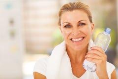 Healthy senior woman royalty free stock photography