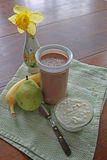 Healthy shake for morning meal Royalty Free Stock Photography