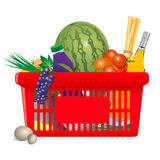 Healthy shopping cart Stock Image