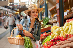 Healthy shopping. Royalty Free Stock Photo