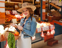 Healthy shopping. Royalty Free Stock Images