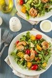 Healthy Shrimp and Arugula Salad Stock Photo