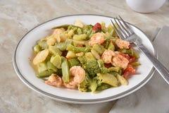Healthy shrimp stir fry stock image