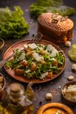 Healthy simple Caesar salad stock photos