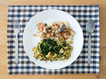 Healthy simple food recipe. Royalty Free Stock Image
