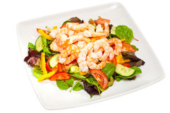 Healthy, simple prawn salad Stock Photo