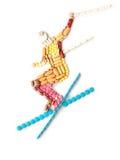 Healthy skiing. Royalty Free Stock Photos