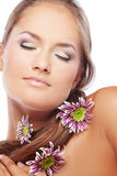 Healthy skin and hair Stock Images