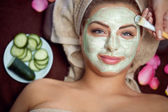 Healthy skin requires care Stock Photos