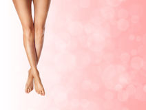 Healthy slender female legs Royalty Free Stock Images