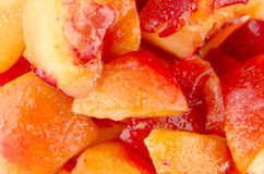 Healthy sliced peaches Stock Images