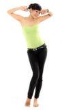 Healthy slim body. Healthy slim full body on white background Stock Image