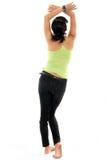 Healthy slim body. Healthy slim full body on white background back view Stock Photo