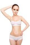 Healthy slim girl Stock Photography