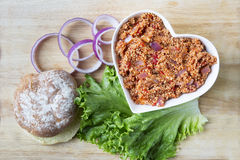 Healthy Sloppy Joe Ingredients Royalty Free Stock Photo