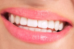 Healthy smile with beautiful white teeth Royalty Free Stock Images