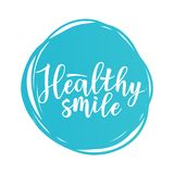 `Healthy smile` motivation  poster Stock Image