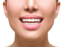 Healthy smile. Teeth whitening. Dental care. Concept Stock Photography