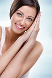 Healthy smiling beauty woman Stock Images
