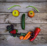Healthy smiling vegetable face Royalty Free Stock Image
