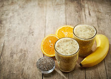 Healthy smoothie with chia seeds Royalty Free Stock Photo