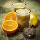 Healthy smoothie with chia seeds Stock Photography