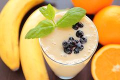 Healthy smoothie with mint leafs Stock Photo