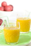 Healthy Smoothies. For breakfast with straws stock photo