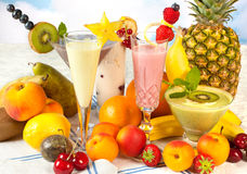 Healthy smoothies for a diet Royalty Free Stock Photos
