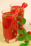 Healthy Smoothies Made Of Strawberries Stock Images