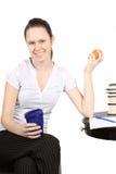 Healthy snack break Stock Images