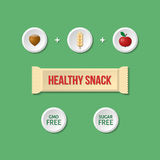 Healthy snack infographic Royalty Free Stock Image
