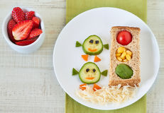 Healthy  snack for kids Stock Photos