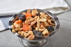 Healthy snack mix Royalty Free Stock Image