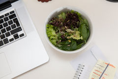 Healthy snack on a office desk Stock Photos